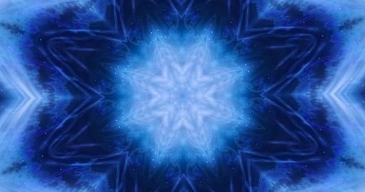 4k Looping footage. Transforming ornamental vintage mosaic art flower. Abstract esoteric cosmic Animation