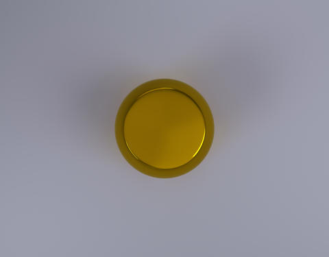 gold jar product pack top view Photo