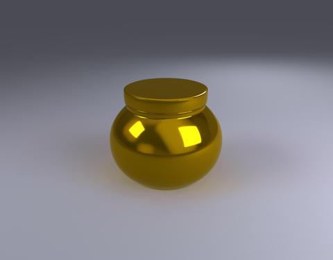 gold jar product pack Photo