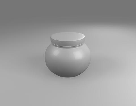 white color of Plastic Jar on sphere Photo