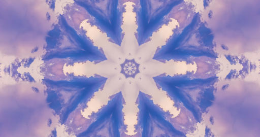 Blue Kaleidoscopic Video Background Loop. Geometrically symmetrical kaleidoscopic background. Animation