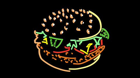 Hamburger Line Art GIF