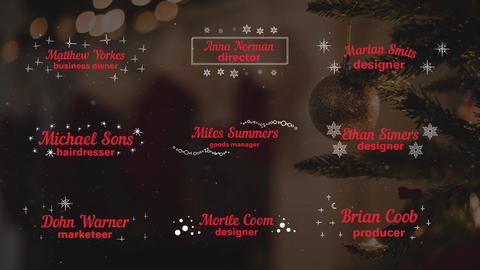 Christmas Titles and Lower Thirds Motion Graphics Template