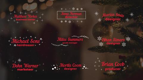 Christmas Titles and Lower Thirds モーショングラフィックステンプレート