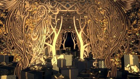 Christmas Art Nouveau Gift Box 02 CG動画