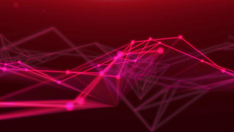 Moving Abstract Decoration 3D Render . Fantasy Technology Loop Animation Plexus. Modern Graphic Animation