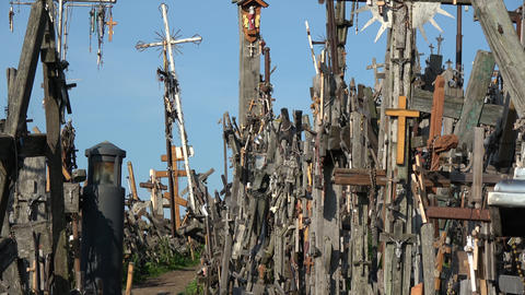 Hill of crosses, Kryziu kalnas – place of piligrimage, Lithuania Live Action