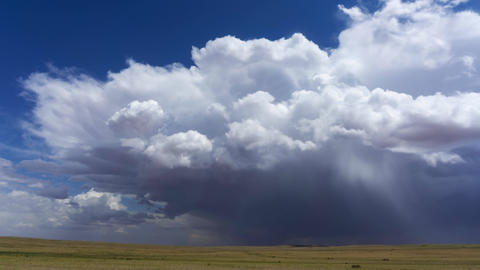 Storm clouds over steppe dramatic sky background Live Action