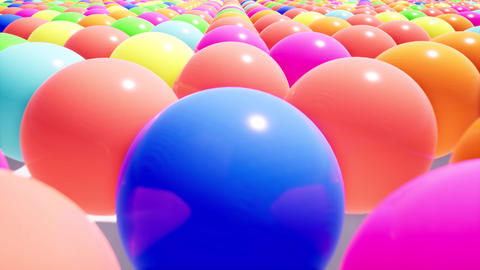 Camera movement over a realistic field of colored plastic... Stock Video Footage