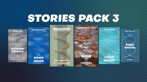 Stories Pack 3 After Effects Template
