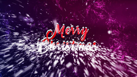 Merry Christmas Particles V2 Animation