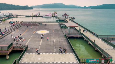 Sun moon lake taiwan pier Live影片
