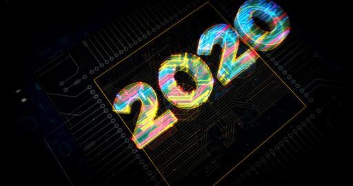 2020 year number futuristic animation Animation