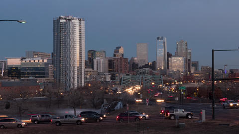 Downtown Denver Day To Night Zoom In Live Action