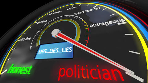 4K Politician Lie Meter 3D Animation Animation