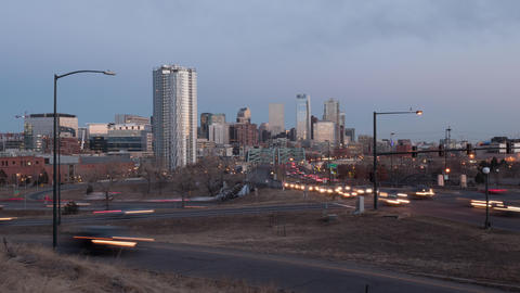 Denver Day to Night Timelapse Live Action
