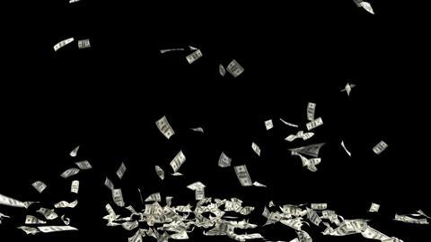 Dollars Money Falling 2 Animation