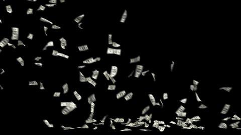 Dollars Money Falling 4 Animation