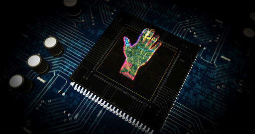 Cyber hand futuristic animation Animation