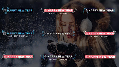 New Year Lower Thirds After Effects Template