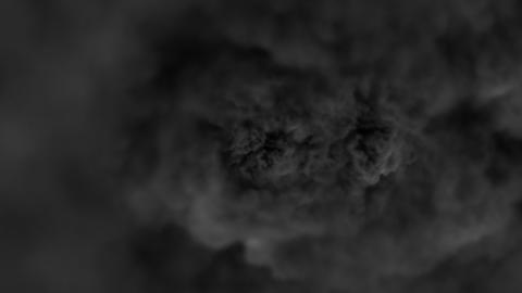 Digital Particle Animation of swirling Smoke Animation