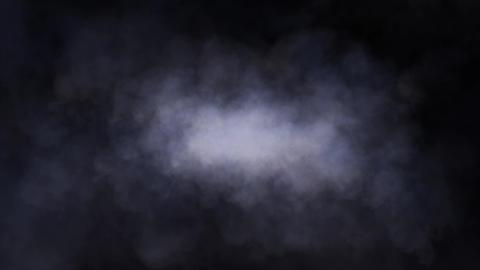 white steam / smoke / ink texture animation vfx effects on black background Animation