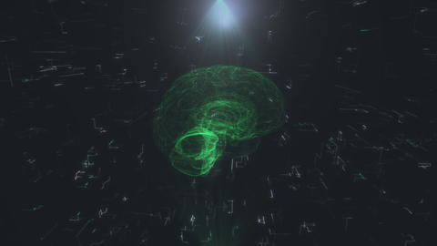 hologram of the brain representing artificial intelligence. Artificial Photo