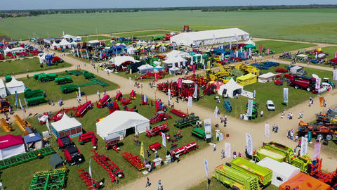 Agricultural exhibition in the open air Golden field may 21 2019 Russia Live Action