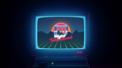 Retro Wave Logo Premiere Pro Template
