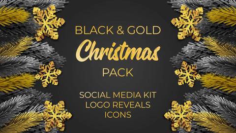 Black and Gold Christmas After Effects Template
