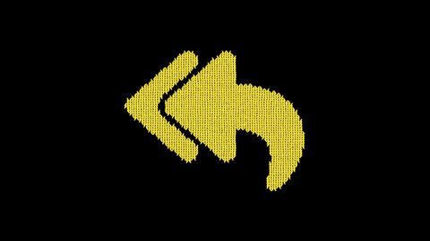Symbol reply all is knitted from a woolen thread. Knit like a sweater Animation