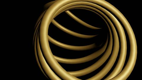 Abstract gold rings 3D Model