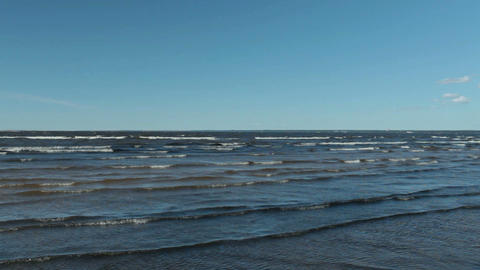 blue seascape, waves with whitecaps Live Action