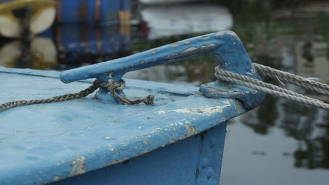 mooring cleat old boat Live Action