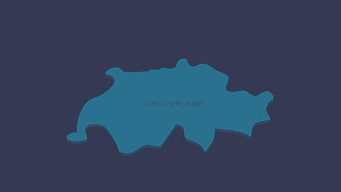 Switzerland animated map with alpha channel Animation