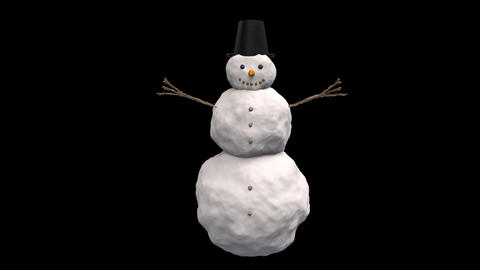 Snowman Looped CG動画