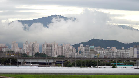 mudeong Mountain 4k clouds Footage