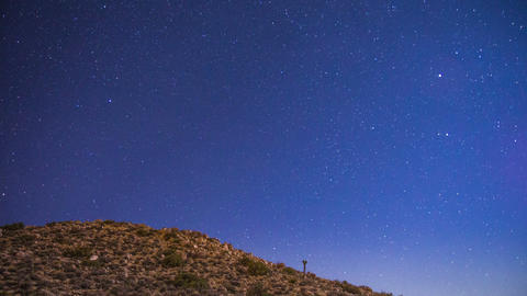 Time Lapse - Stars Moving over the Hill Footage