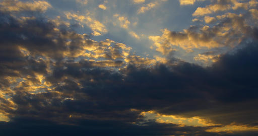Cloudy Sunset Sky Colors At Dawn Footage