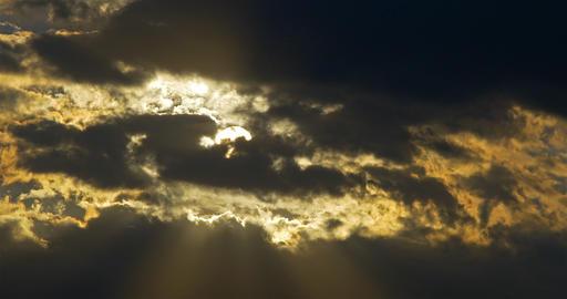 Sunset On Cloudy Sky Timelapse Footage