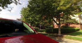 Side Rear View Driving in Neighborhood on Pittsburgh's Washington's Landing Footage