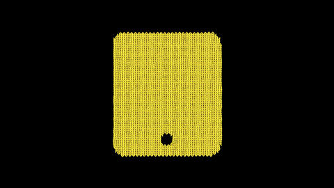 Symbol tablet is knitted from a woolen thread. Knit like a sweater Animation