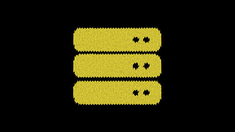 Symbol server is knitted from a woolen thread. Knit like a sweater Animation
