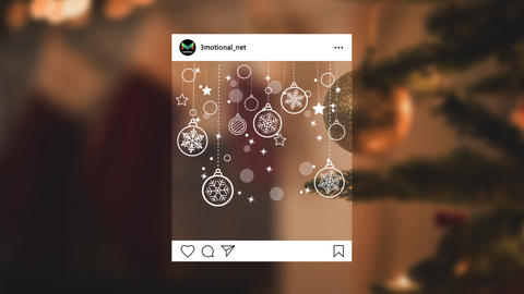 Christmas Doodle Decoration Pack 04 MOGRT Motion Graphics Template