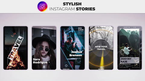 Stylish Instagram Stories After Effects Template