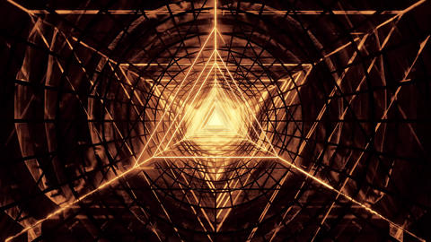 abstract glowig wireframe triangle design with dark abstract motion background Animation