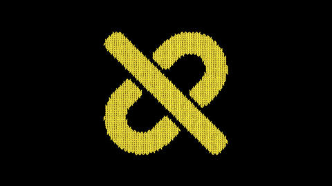 Symbol unlink is knitted from a woolen thread. Knit like a sweater Animation