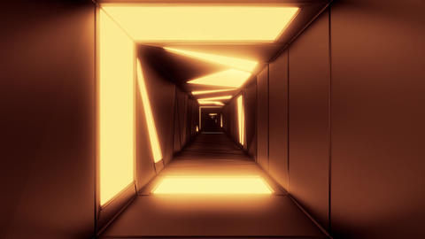 highly abstract design tunnel corridor with glowing light patterns 3d Animation