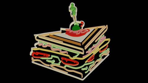 Sandwich Line Art Effect Animation