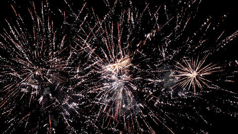 Fireworks background. Loops seamlessly Live Action